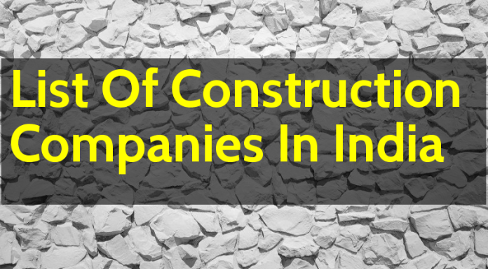 List Of Construction Companies In India