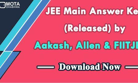 JEE Main 2018 Answer Key By Akash