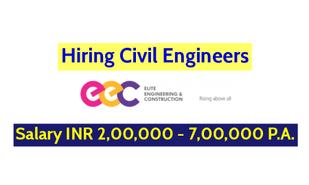 Elite Engineering & Construction (Hyd) Pvt Ltd Hiring Civil Engineers - Salary INR 2,00,000 - 7,00,000 P.A.