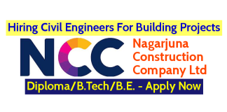 Nagarjuna Construction Company Ltd Hiring Civil Engineers For Building Projects DiplomaB.TechB.E. - Apply Now