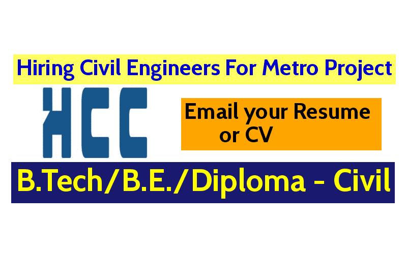 Hindustan Construction Company Ltd Hiring Civil Engineers