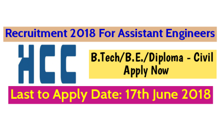 Hindustan Construction Company Ltd Recruitment For Civil Engineers B.TechB.E.Diploma - Civil Apply Now