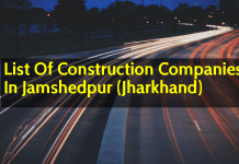 List Of Construction Companies In Jamshedpur (Jharkhand)