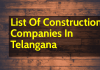 List Of Construction Companies In Telangana