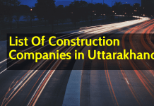 List Of Construction Companies in Uttarakhand