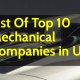 List Of Top 10 Mechanical Companies in USA