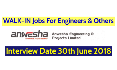 WALK-IN Jobs For Engineers & Others Anwesha Engineering & Projects Limited Interview Date 30th June 2018