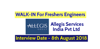 Allegis Services India Pvt Ltd WALK-IN For Freshers Engineers Interview Date - 8th August 2018