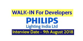 Philips Lighting India Ltd WALK-IN For Developers Interview Date - 9th August 2018