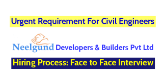Urgent Requirement For Civil Engineers Development Executive Neelgund Developers & Builders Pvt Ltd