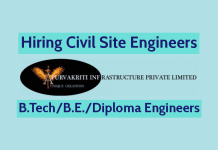 Apurvakriti Infrastructure Pvt Ltd Hiring Civil Site Engineers B.TechB.E.Diploma Engineers