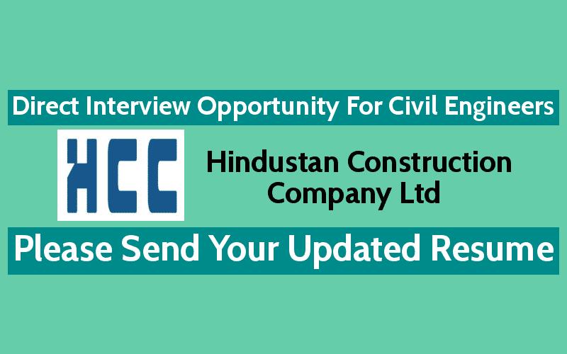 Hindustan Construction Company Ltd Recruitment 2018   Direct ...