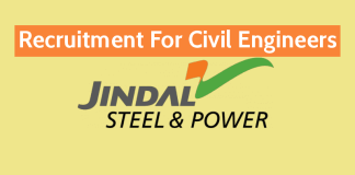 Jindal Steel Power Ltd Recruitment For Civil Engineers Apply Now