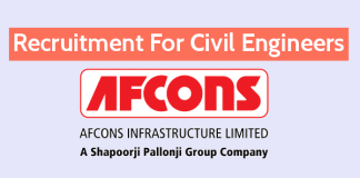 Afcons Infrastructure Ltd Recruitment For Civil Engineers Structural Engineer Apply Now