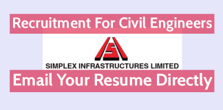 Simplex Infrastructures Ltd Is Hiring Civil Engineers Email Your Resume Directly