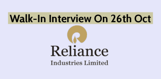 Walk-In Interview On 26th Oct | Reliance Industries Ltd | Construction Jobs