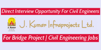 J. Kumar Infraprojects Ltd Direct Interview Opportunity For Civil Engineers For Bridge Project