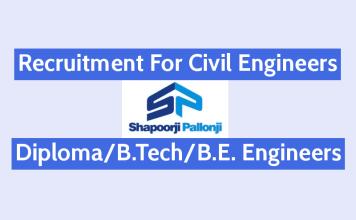 Shapoorji Pallonji Recruitment For Civil Engineers DiplomaB.TechB.E. Engineers