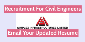 Simplex Infrastructures Ltd Recruitment For Civil Engineers Email Your Resume