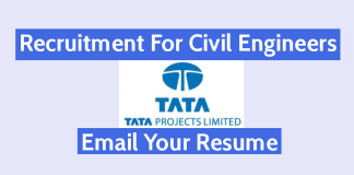 Tata Projects Recruitment For Civil Engineers Email Your Resume