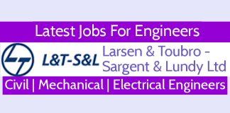 Latest Jobs For Engineers @ L&T- S&L Civil Mechanical Electrical - Apply Now