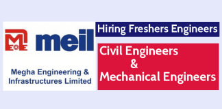MEIL Hiring Freshers Engineers - Civil & Mechanical Engineers May Apply For This Job