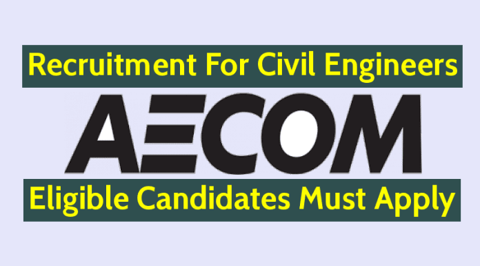 AECOM India Pvt Ltd Hiring Civil Engineers Eligible Candidates Must Apply