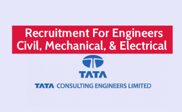 Tata Consulting Engineers Ltd Hiring Engineers Civil, Mechanical, & Electrical Apply Now
