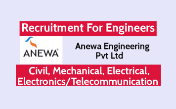Anewa Engineering Pvt Ltd Recruitment For Engineers Civil, Mechanical, Electrical, ElectronicsTelecommunication