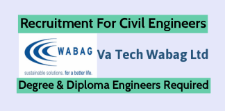 Va Tech Wabag Ltd Recruitment For Civil Engineers Eligible Candidates Must Apply