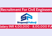 Shapoorji Pallonji Recruitment For Civil Engineers Salary INR 4,00,000 - 8,00,000 P.A.