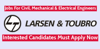L&T-Sargent & Lundy Ltd Jobs For Civil, Mechanical & Electrical Engineers Interested Candidates Must Apply Now