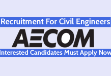 AECOM India Pvt Ltd Recruitment For Civil Engineers Interested Candidates Must Apply Now