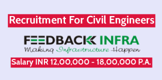 Feedback Infra Pvt Ltd Recruitment For Civil Engineers Salary INR 12,00,000 - 18,00,000 P.A.