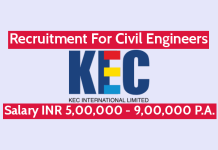 KEC International Ltd Recruitment For Civil Engineers Salary INR 5,00,000 - 9,00,000 P.A.
