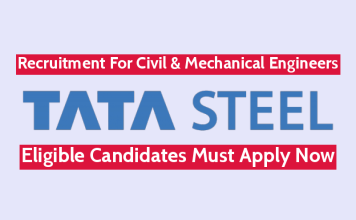 TATA Steel Recruitment For Civil & Mechanical Engineers Eligible Candidates Must Apply Now