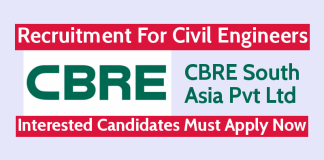 CBRE South Asia Pvt Ltd Recruitment For Civil Engineers Interested Candidates Must Apply Now