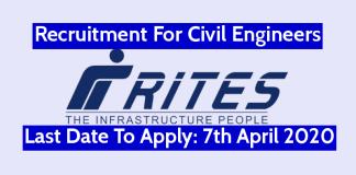 RITES Recruitment For Civil Engineers