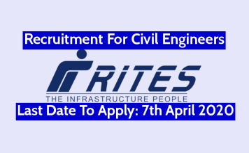 RITES Recruitment For Civil Engineers