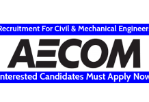 AECOM India Pvt Ltd Recruitment For Civil & Mechanical Engineers Interested Candidates Must Apply Now