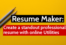 Resume Maker Create a standout professional resume with online Utilities