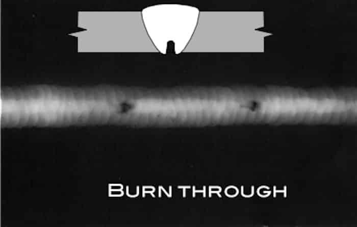 عيوب اللحام Burn Through