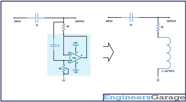 Synthetic Inductor Based High Pass Audio Filter: Circuit