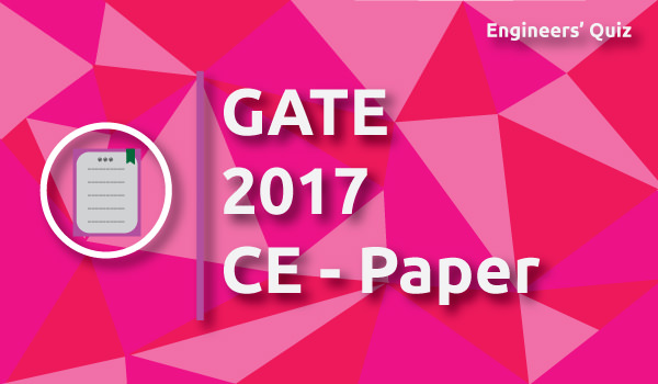GATE Civil Paper 2017