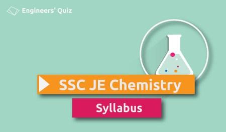 ssc je chemistry