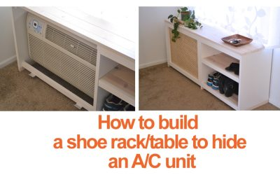 How to build a shoe rack or table to hide an AC unit