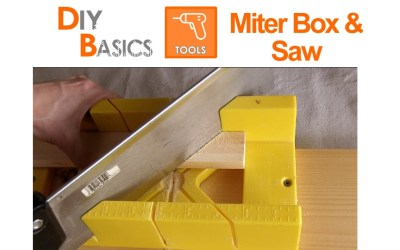 How to use a miter box and saw to cut wood: DIY Basics
