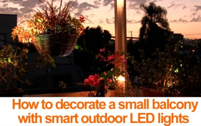 Decorating a small balcony w/ smart LED outdoor lighting