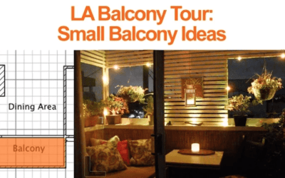 Small Balcony Decorating Ideas: LA Balcony Tour