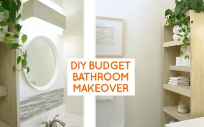 Small bathroom remodel: budget bathroom ideas